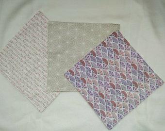 Set of washable handkerchiefs - zero waste