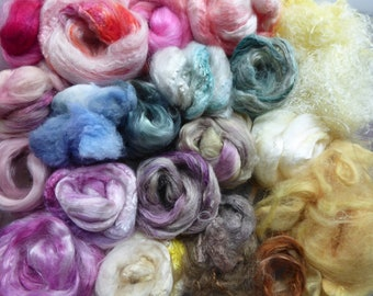 Hope Jacare - Hand dyed speciality fibre pack -  approx 80g mixed plant/speciality fibres - PLF67