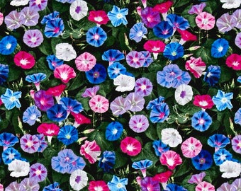 Floral Fabric: Elizabeth's Studio Landscape Medley Morning Glory 00% Cotton Fabric by the yard (ES31)