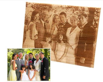 Personalized Wooden Engraved Photo Plaques