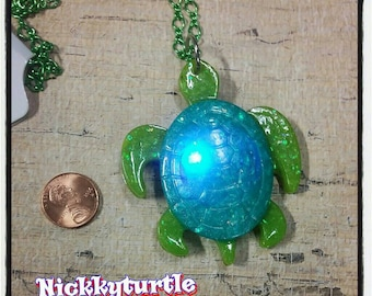 Lights Up Turtle motion activated Necklace