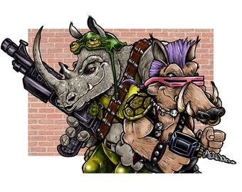 The Rhino and the Warthog