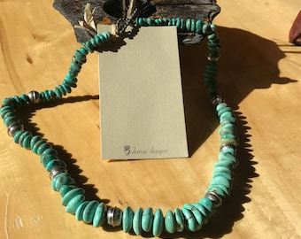 Beautiful Arizona Turquoise and Sterling Silver Necklace