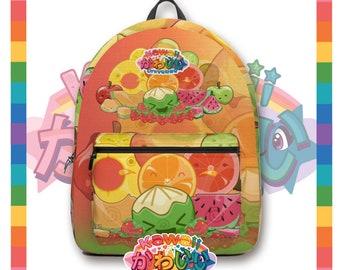 Kawaii Universe - Cute Classic Fruits Group Designer Travel Bag / Backpack