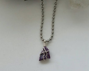 Empath - Sugilite Necklace, Wire Wrapped Pendant, Crystal Healing, Sterling Silver Jewelry, Sugilite Pendant, Rare Crystals, Protection