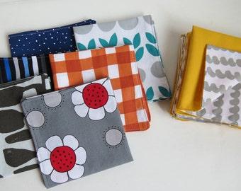4 reusable napkins