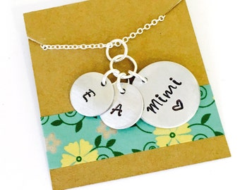Grandmother Necklace, Grandma Necklace, Mimi Necklace, Mom  Necklace, Family Necklace