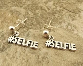 Sterling Silber #Selfie Reize auf Sterling Silber Ohrstecker - 1232