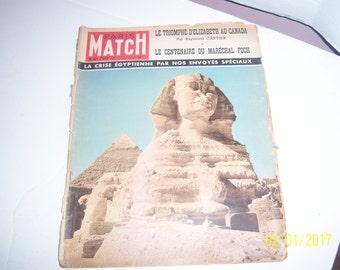 Nov 3 1951 Paris Match Egyptian Sphinx Egypt Desert Paper Ephemera