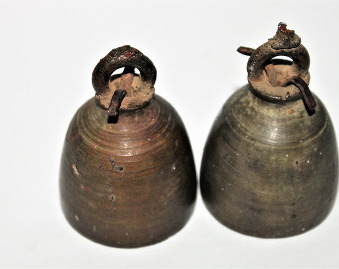 Antique Bronze late 19th Century Temple Bells from Chiang Mai, Thailand