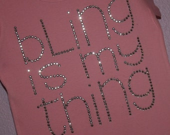 BLING is my THING rhinestud  tee by Daisy Creek Designs