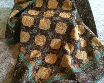 Fall Quilt, Homemade Quilt, Fall Throw Quilt, Bankets and Quilts, Flannel Quilt
