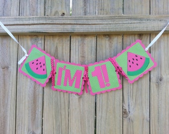 Pink and Green Watermelon Banner