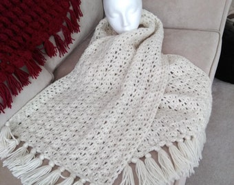 crochet scarf, wrap, shawl