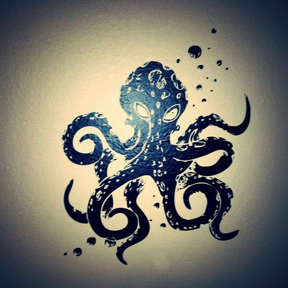 Octopus Mania Wall Decal-Choose any color and finish