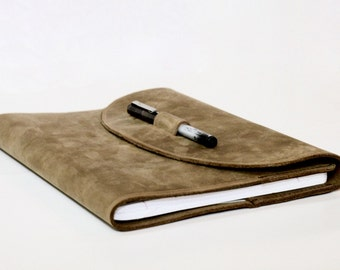 Handstitched Leather Composition Notebook Cover.Handmade.Gift For Her.Gift For Him.Gift For Student.Gift for Writer.Gift for Artist.Brown