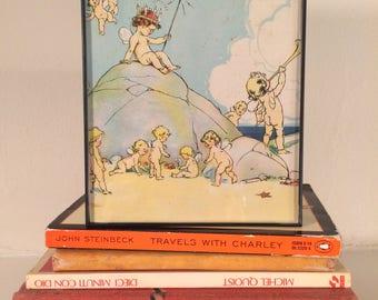 Colorful, Whimsical Vintage Children's Storybook Illustration Wall Art