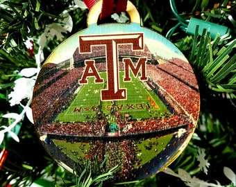 Texas A and M Christmas Ornament / gift tag