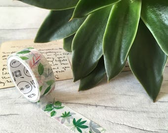 Greenery washi tape, spring wedding, palm leaf, forest, outdoor fern, summer wedding stationery, rustic wedding, craft supplies plant lover