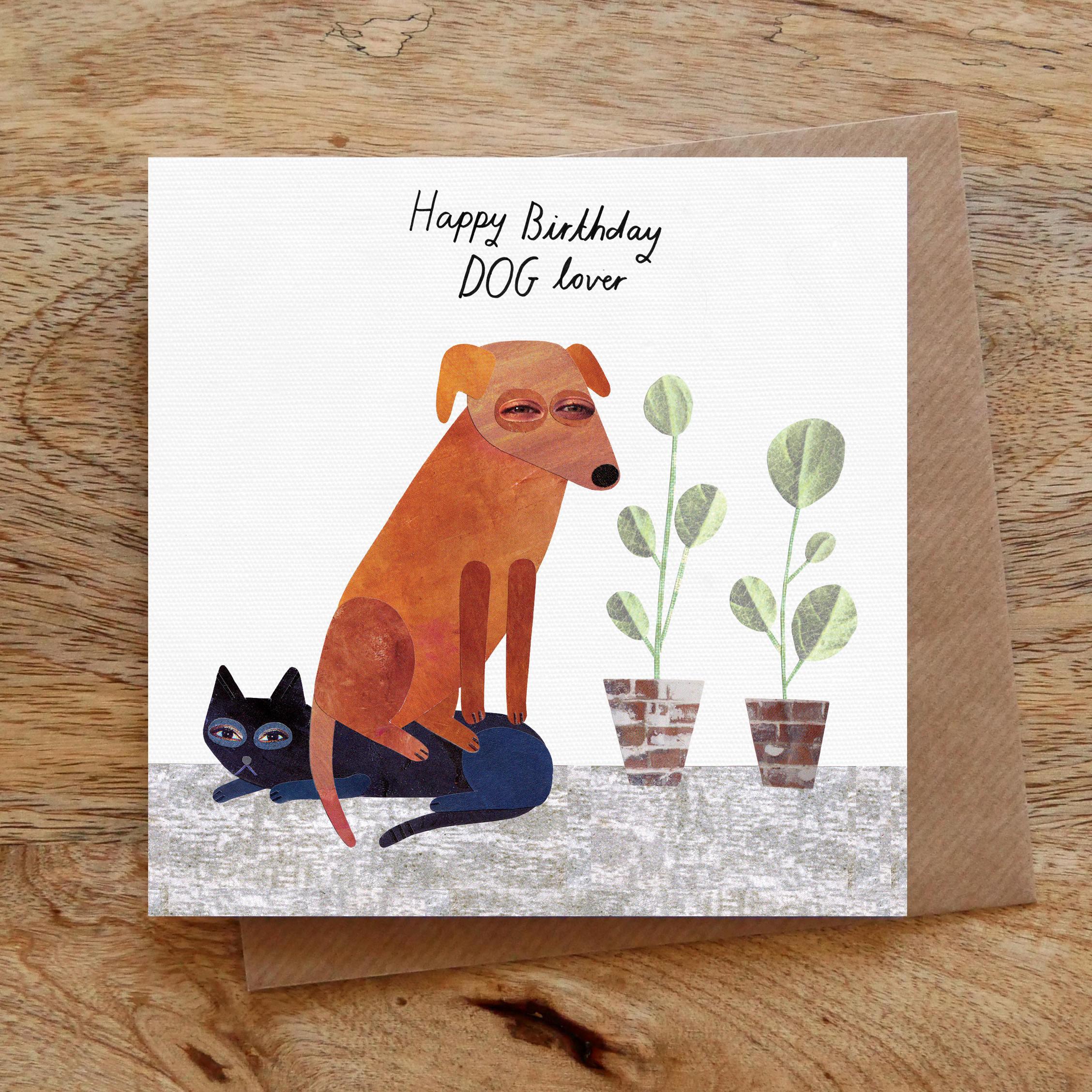 Hunde-Liebhaber-Geburtstag Collage Grußkarte Geburtstagskarte
