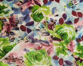 Sewing Fabric White Cotton Crafting Floral Print Curtain Pillow Drape Dressmaking Fabric Material Indian Cotton Fabric By 1 Yard ZBC1922