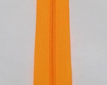 Orange neon zipper spiral 15 cm