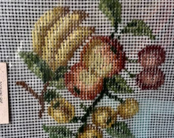 Needlepoint kit Pre-worked Tapestry by Madeira, vintage new, Fruit
