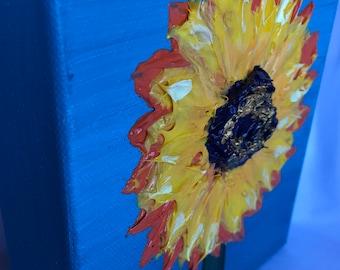 Sunflower puffy painting