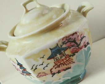 Vintage Japanese Tea Container // Vintage Boho Decor