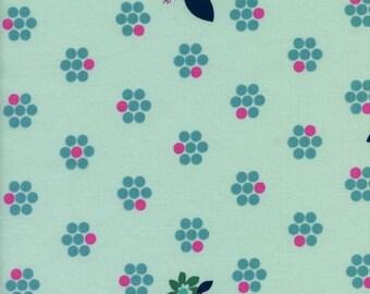 Fruit Blossoms (Mint) - Fruit Dots - Melody Miller - Cotton + Steel - 1 Yard