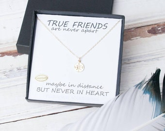 BFF, Compass Necklace, Best Friends Necklace, Friendship Jewelry, Compass, Tiny Compass, Distant Friends