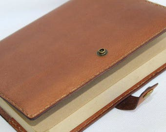 Leather bound journal, leather journal unlined kraft paper, personalized journal,leather journal cover, leather journal personalized gift