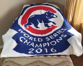 Chicago Cubs Blanket 2016 WORLD SERIES CHAMPIONS