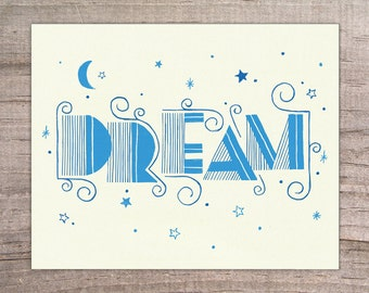 DREAM Typography Print 8x10