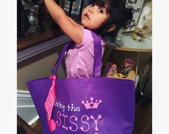 Sissy Tote Bag Girls Tote Bag Girls Sleepover Bag