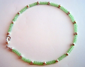 Sea Green Crystal Anklet