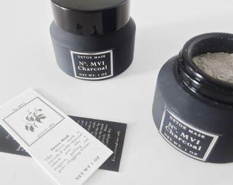 Charcoal Mask - Face Mask - Clay Mask - Activated Charcoal - Detox Mask - Acne Mask - Bentonite Clay - Facial Mask - Blackhead Mask - Acne