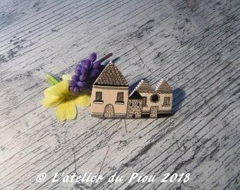 Brooch houses, unique, brooch, unique piece.