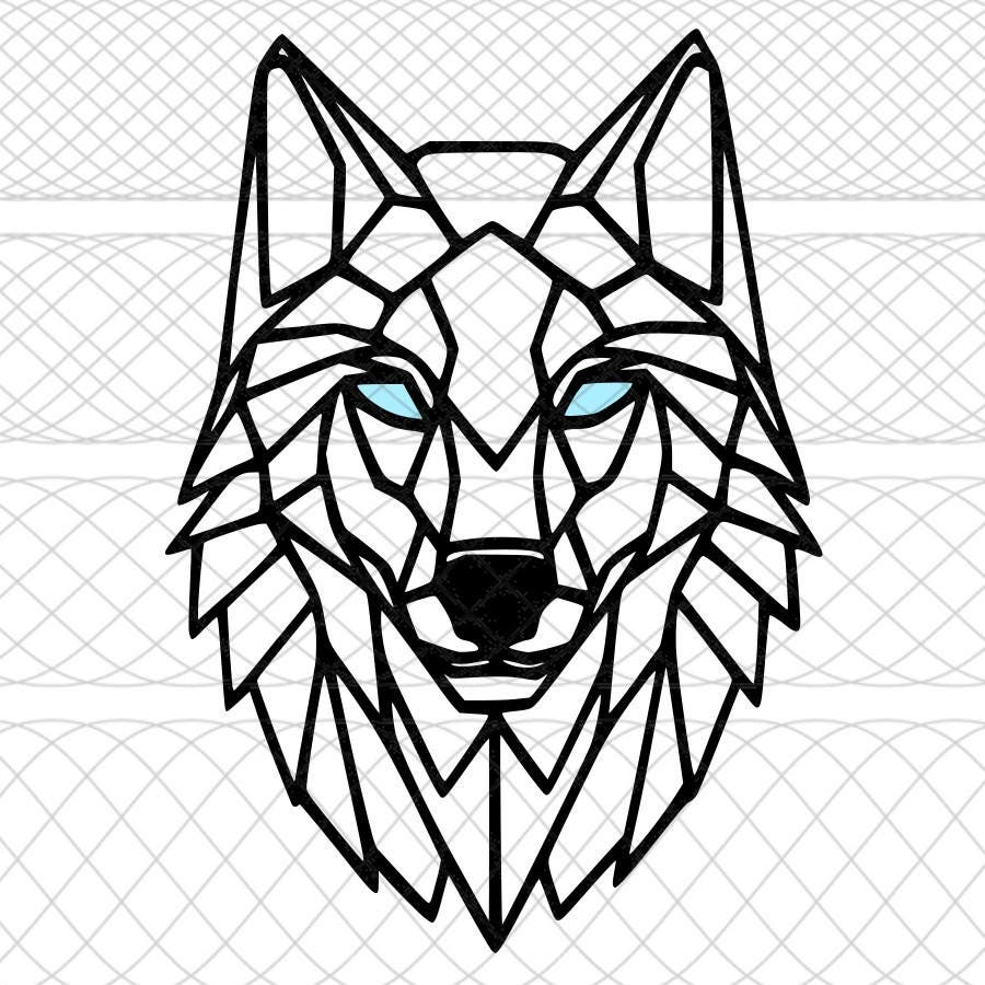 geometric wolf svgpngstudio3 cut files for silhouette coyote clip art images coyote clip art black and white