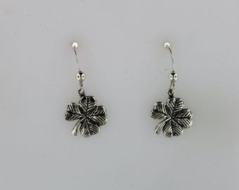 Sterling Silver 4 Leaf Clover Earrings