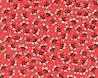 Fig Tree Fabric - Chestnut Street Fabric - Red Fig Tree Fabric - Moda Fabric - Red Quilting Fabric By The 1/2 Yard