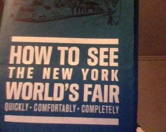 1965 Worlds Fair Greyhound Brochure Map