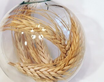 Wheat Glass Ornament