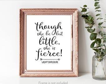 Empowerment / Strong women / Art / Shakespeare quotes / Literary gift for her / Niece gift from aunt /