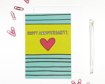 Happy Anniversary Romantic Cute Anniversary Card