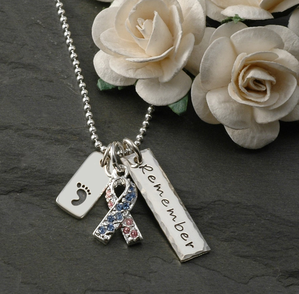 Pregnancy and Infant Loss Awareness Necklace Remember