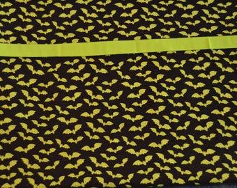 Green Halloween Bats Pillowcase