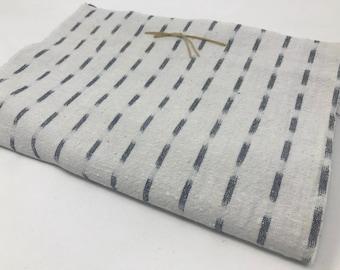 Indigo fabrics 10 pieces for patchwork (Vertical White  kasuri)