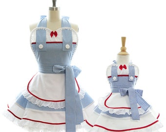 Mommy & Me Wizard of Oz Dorothy Apron Set - Bake w/ Mommy - Princess Costume + Cooking Apron for Dress Up + Play with Mommy