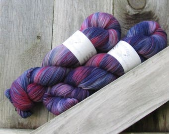Outer Limits - The Yarnhand - SW Corriedale/Nylon Hand Dyed Sock Yarn